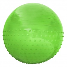 Gymnastická lopta Sportvida 65 cm s výčnelkami ANTI BURST zelený