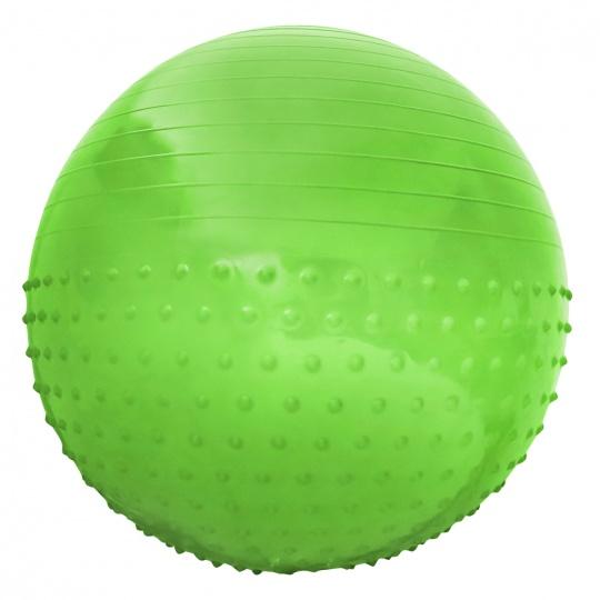Gymnastický míč Sportvida 65 cm s výčnělky ANTI BURST zelený