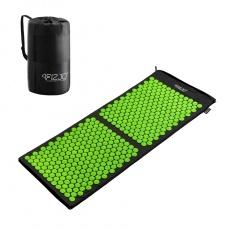Akurpresurní podložka + polštář 4FIZJO 130 * 50 cm černo-zelená