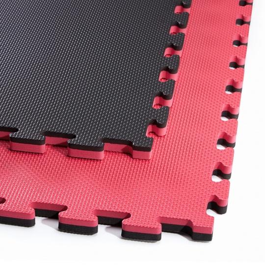 Tatami Puzzle 100x100x2 cm, červeno-čierna