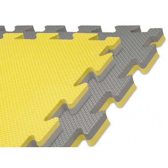 Tatami puzzle 100 x 100 x 2 cm žluto-šedé