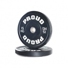 Olympijský kotúč PROUD TRAINING BUMPER PLATE BLACK 15 kg