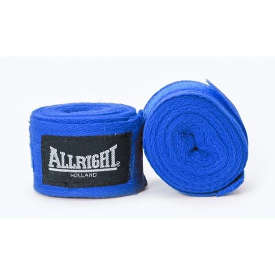 Boxerská bandáž Allright Holland 4,2 m modrá - 2 ks