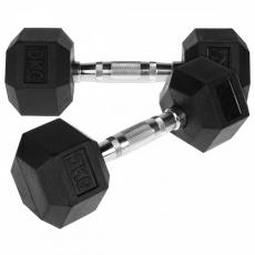 Jednoruční činka HEX 5 kg