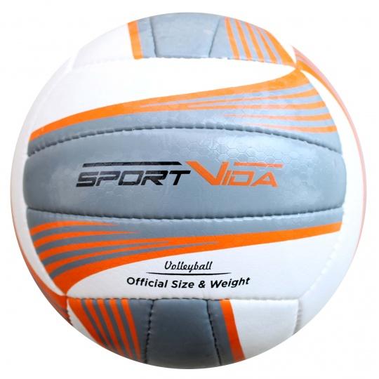 Volejbalová lopta Sportvida Beach Grey veľkosť 5