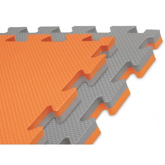 Tatami puzzle 100 x 100 x 2 cm oranžovo-šedé