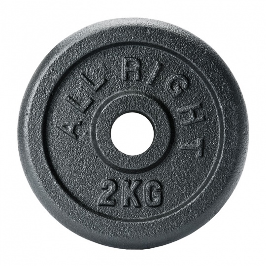 Liatinový kotúč Allright 2 kg priemer 28 mm