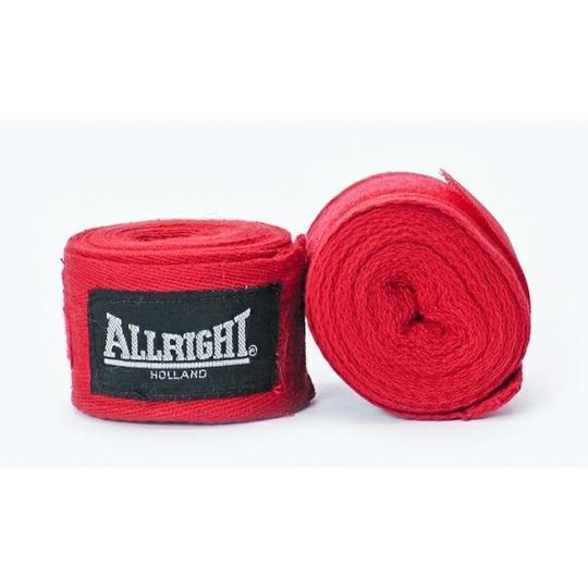 Boxerská bandáž Allright Holland 4,2 m červená - 2 ks