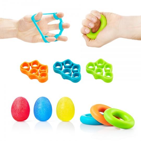 Set pomůcek na trénink palců a zápěstí 4FIZJO 9 ks