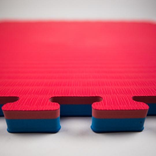 Tatami Puzzle 100x100x4 cm,  modro-červená