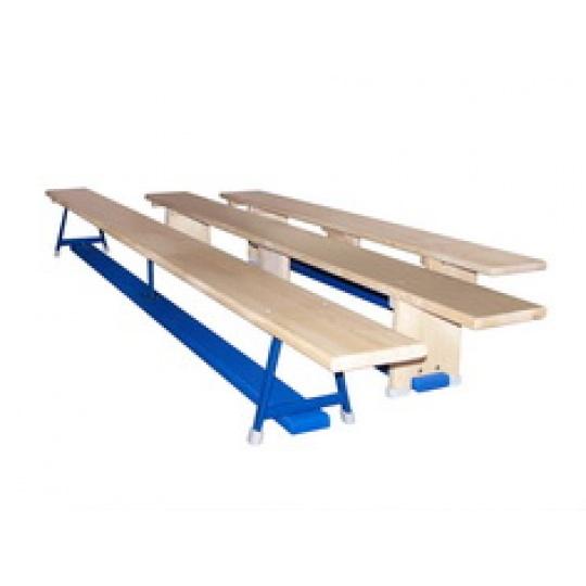 Gymnastická lavička s kovovou konštrukciou 2 m