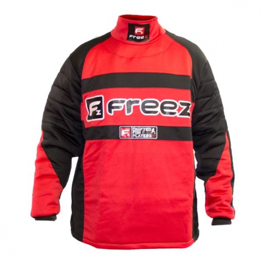 FREEZ Z-80 GOALIE SHIRT BLACK/RED senior