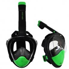 Potápačské celotvárová maska Sportvida L / XL čierno-limetková