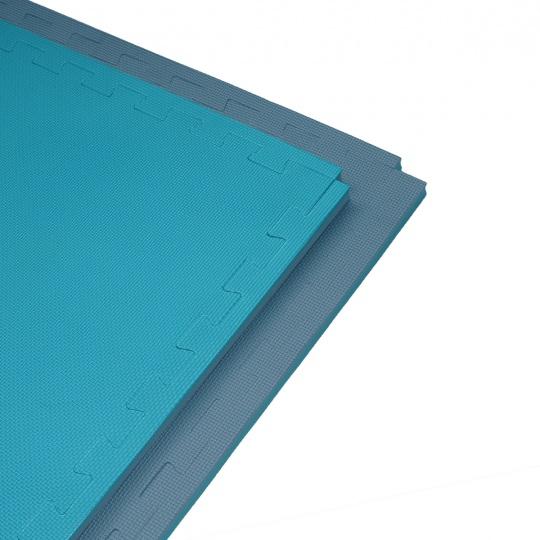 Tatami Puzzle 100x100x2 cm, šedo-modrá