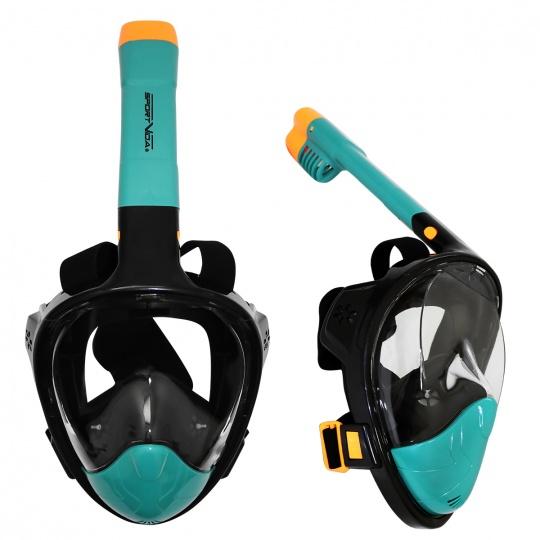 Potápěcí celoobličejová maska Sportvida S/M černo-mořská modř