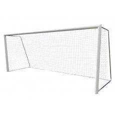 Sieť na futbal, 5 x 2m, 3 mm polypropylén, dvojfarebná, červeno-čierna, bezuzlové