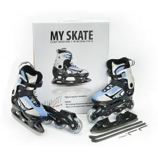 Brusle Allright My Skates 2 v 1 modré nastavitelná velikost (29-32)