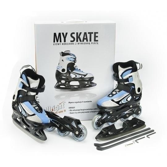 Korčule Allright My Skates 2 v 1 modrej nastaviteľná veľkosť (29-32)