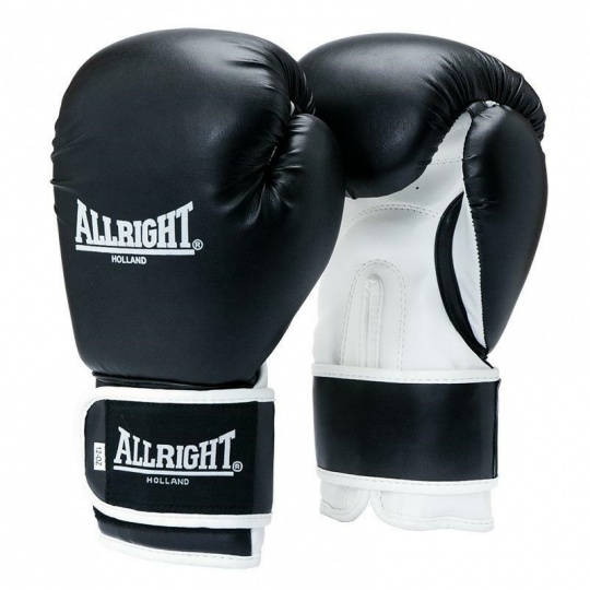 BOXERSKE RUKAVICE POWER GEL ALLRIGHT HOLLAND 12oz čierno-biele