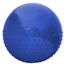 Gymnastická lopta Sportvida 65 cm s výčnelkami ANTI BURST modrá