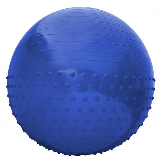 Gymnastický míč Sportvida 65 cm s výčnělky ANTI BURST modrý