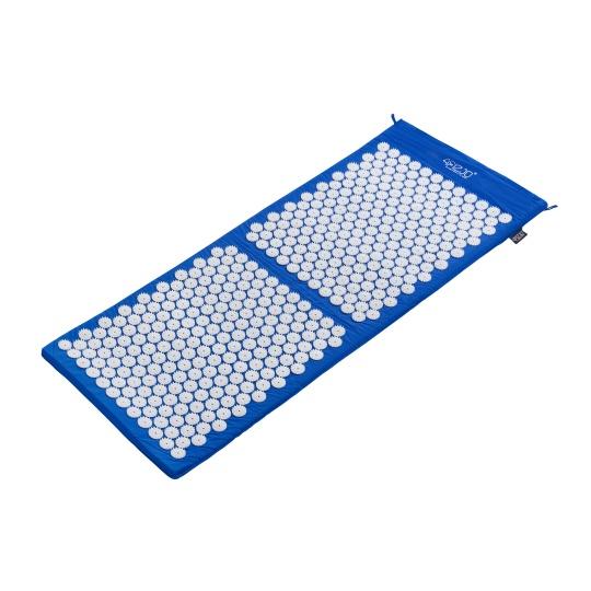 Akurpresurní podložka + polštář 4FIZJO 130 * 50 cm modrá