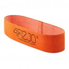 Textilný Flex Band 4FIZJO oranžový odpor 1 - 5  kg