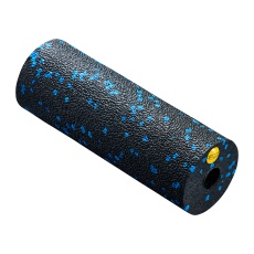 Masážny MINI valec 4FIZJO EPP hladký 15 cm čierno-modrý