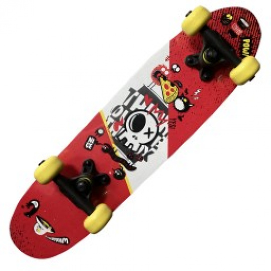 Skateboard 2406- ABSTRACT RED