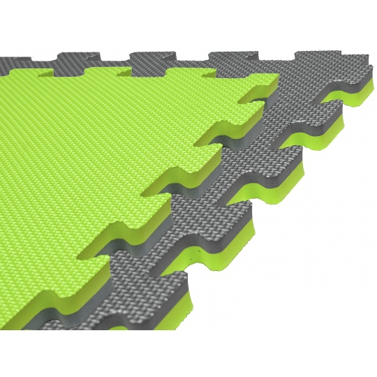 Tatami Puzzle 100x100x2 cm, zeleno-šedá