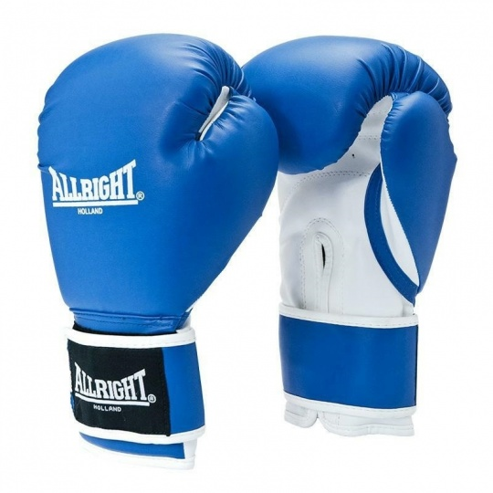 BOXERSKE RUKAVICE POWER GEL ALLRIGHT HOLLAND 14oz modro-biele