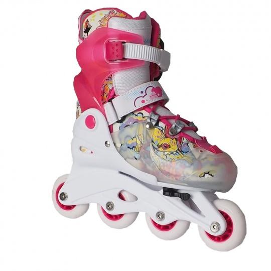 Kolieskové korčule set korčule + prilba + chrániče veľkosť 30 - 33