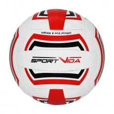 Volejbalová lopta Sportvida červeno-čierno-biely