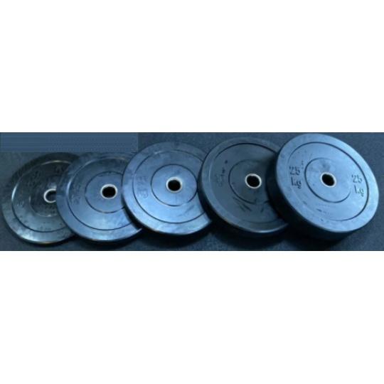 Set BUMPER olympijských kotúčov 150 kg