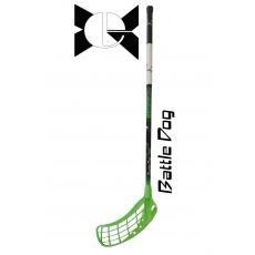 Florbalová hokejka Battle Dog Green 96/108 cm ľavá/pravá