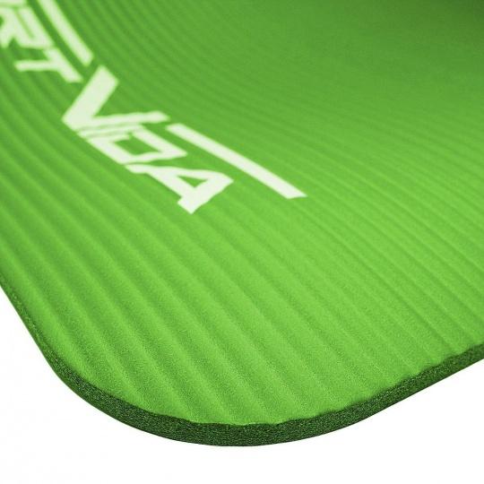Podložka na cvičenie NBR SPORTVIDA 1,5 cm zelená