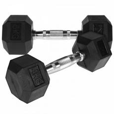 Jednoruční činka HEX 4 kg