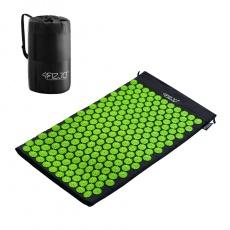 Akurpresurní podložka 4FIZJO 72 * 42 cm černo-zelená