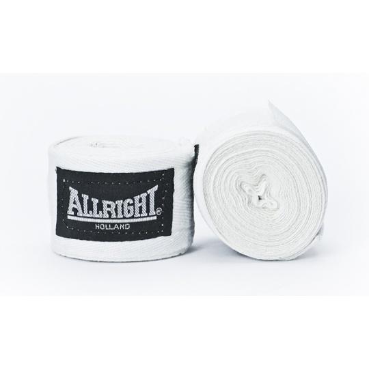 Boxerská bandáž Allright Holland 4,2 m bíla - 2 ks