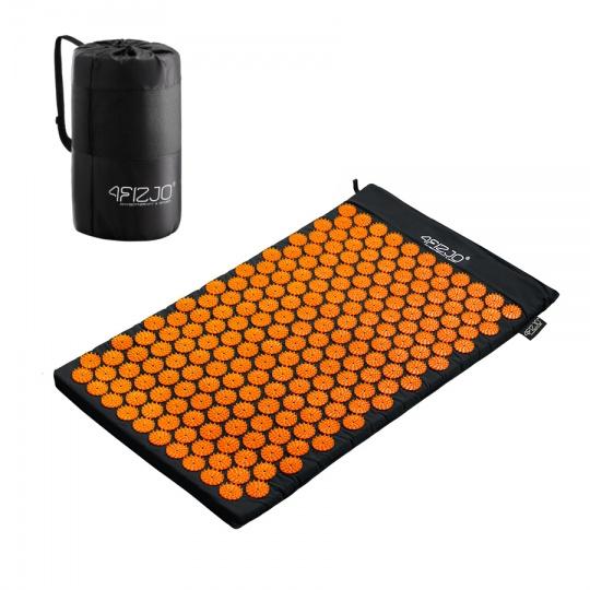 Akurpresúrna podložka  4FIZJO 72 * 42 cm čierno-oranžová