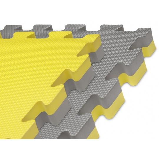 Tatami Puzzle 100x100x4 cm  žluto-šedé