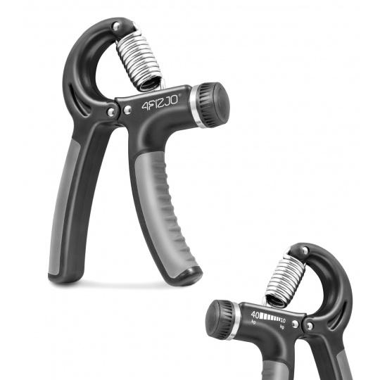 Posilovač zápěstí regulovatelný 4Fizjo šedo-černý