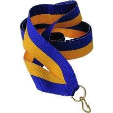 Stuha žluto-modrá 11 mm