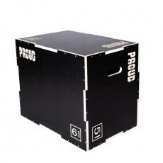 Drevený čierny plyobox PROUD s protišmykovou úpravou