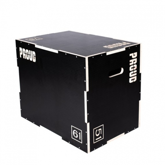 Dřevěný černý plyobox PROUD s protiskluzem