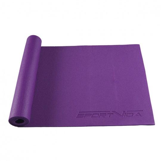 Podložka na cvičení jogy 6 mm Sportvida fialová