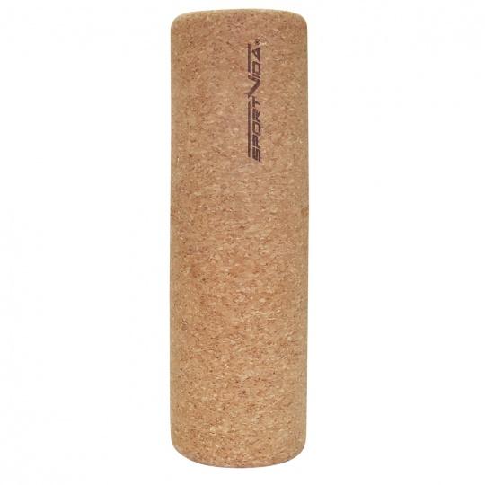 Masážny korkový valec Sportvida Cork 33 x 10 cm