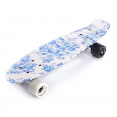 PENNYBOARD METEOR MULTIKOLOR FLOWERS white