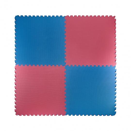 Tatami Puzzle 100x100x2 cm, červeno-modrá