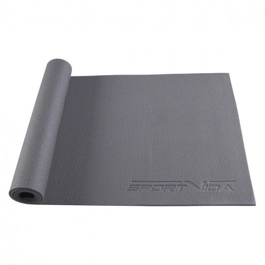 Podložka na cvičenie jogy 6 mm šedá